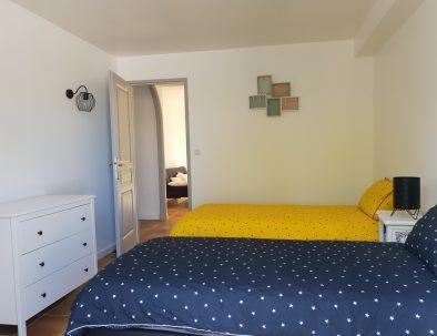 Chambre 2 lits appartement 3 pièces
